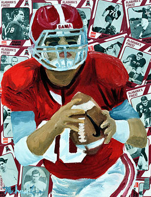 Alabama Quarter Back #10 Poster by Michael Lee