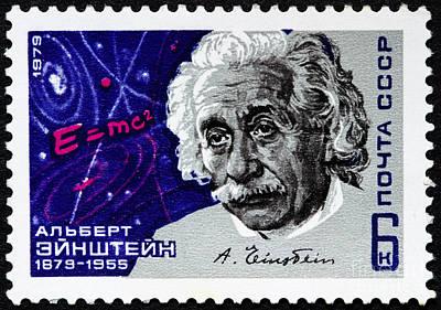 Albert Einstein Stamp Poster by GIPhotoStock
