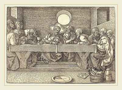 Albrecht Dürer German, 1471-1528, The Last Supper Poster by Litz Collection