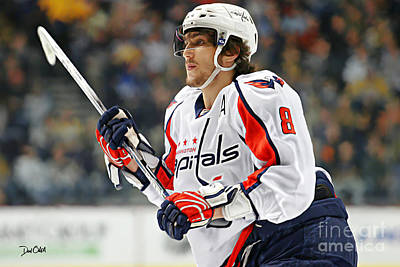 Alexander Ovechkin Poster by Don Olea
