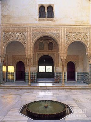 Alhambra Palace Patio Del Cuarto Dorado Poster by Guido Montanes Castillo