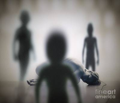 Alien Abduction Poster by Richard Kail