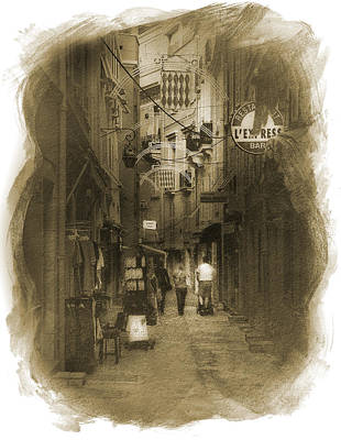 Poster featuring the photograph Alley by Cecil Fuselier