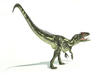 Allosaurus Dinosaur Poster by Leonello Calvetti