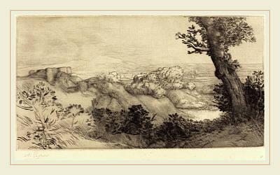 Alphonse Legros, Top Of The Hill Le Haut De La Colline Poster by Litz Collection