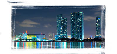Poster featuring the photograph American Airlines Arena And Condominiums by Carsten Reisinger