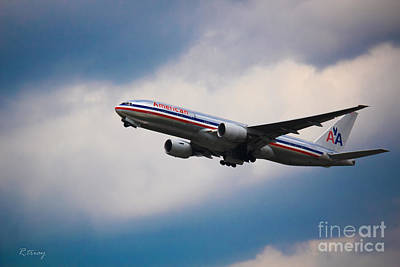 American Airlines Boeing 777 Poster