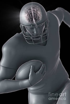 American Football Player Poster by Science Picture Co
