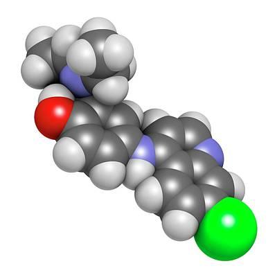 Amodiaquine Anti-malarial Drug Molecule Poster