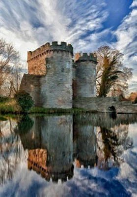 Ancient Whittington Castle In Shropshire England Poster