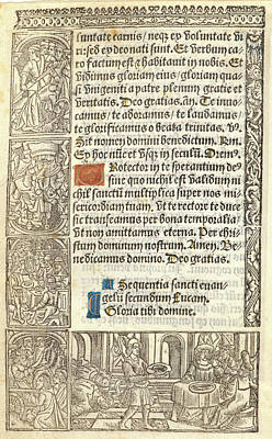 Anonymous French. Sheet From A Book Of Hours Poster by Litz Collection