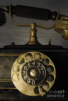 Antique Dial Telephone Poster by Sami Sarkis