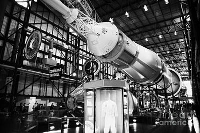 apollo command module on a saturn five rocket at the apollo saturn v center at Kennedy Space Center  Poster