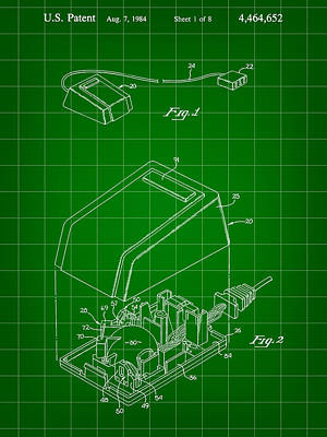 Apple Mouse Patent 1984 Poster