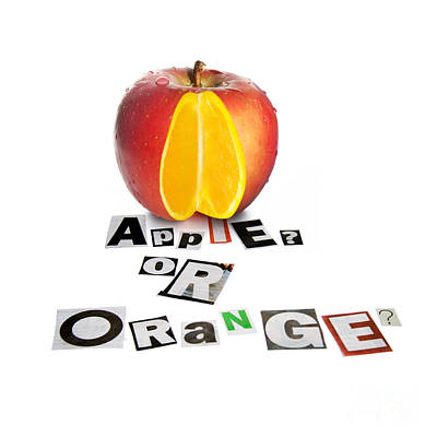 Apple Or Orange Poster by Jorgo Photography - Wall Art Gallery