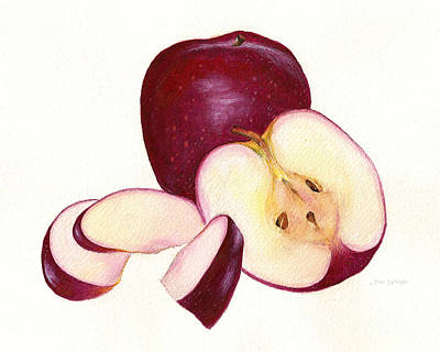 Poster featuring the painting Apples To Apples by Nan Wright