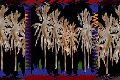 Arabian Nights Dancing Trees Sparkle Reflections Of Light And Joy  Bring This Popular Dream Art To Y Poster