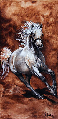 Arabian Purebred Poster by Art Imago
