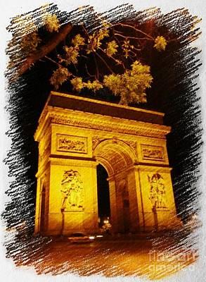 Arc De Triomphe Poster by John Malone