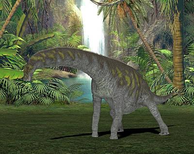 Argentinosaurus Dinosaur Poster by Friedrich Saurer