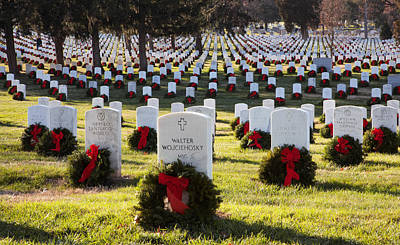 Arlington Cemetery Wreaths Poster