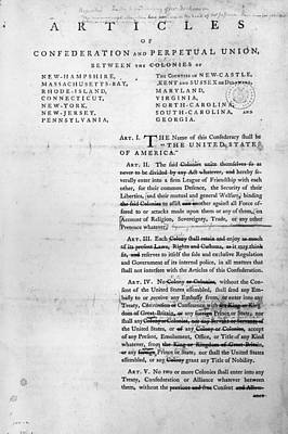 Articles Of Confederation Poster by Granger
