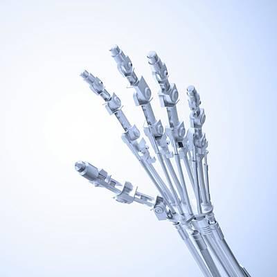 Artificial Hand Poster by Andrzej Wojcicki