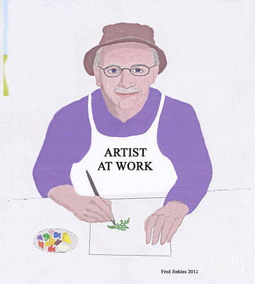 Artist At Work Poster by Fred Jinkins