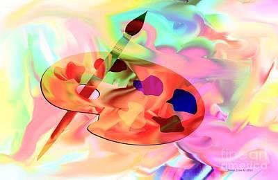 Artist Palette Poster by Annie Zeno