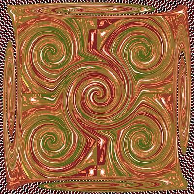 Artistic Embossed Twirl Decoration Chakra Style Unique Signature Navinjoshi Artist Created Images Te Poster