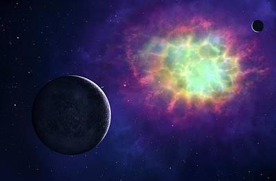 Artwork Of A Supernova Remnant Poster by Mark Garlick