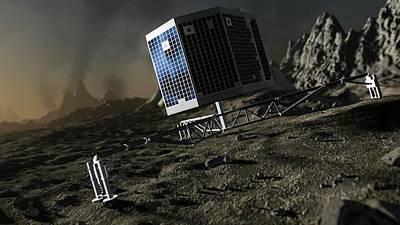 Artwork Of Philae Lander On Comet 67p Poster