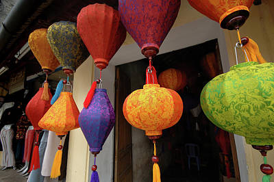 Asia, Vietnam Colorful Fabric Lanterns Poster