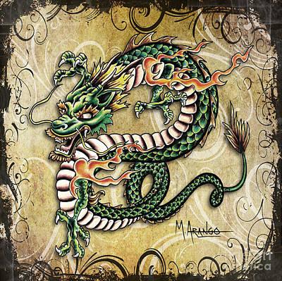 Asian Dragon Poster by Maria Arango