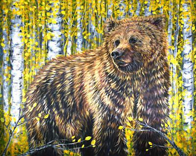 Aspen Bear Poster by Teshia Art