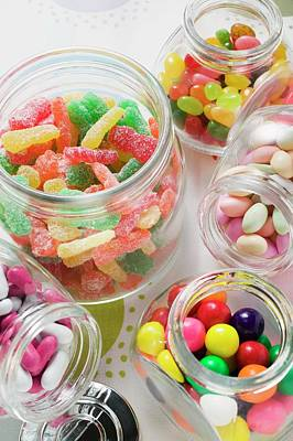Assorted Sweets In Storage Jars Poster