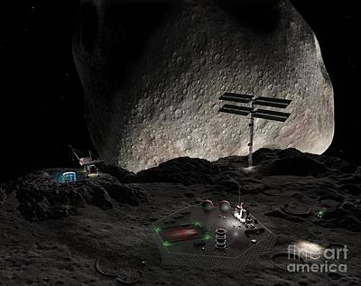 Asteroid Mining Settlement, Artwork Poster