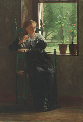 At The Window Poster by Winslow Homer
