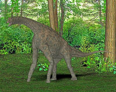 Atlasaurus Dinosaur Poster by Friedrich Saurer