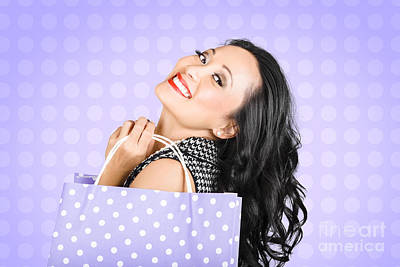 Attractive Young Asian Girl Shopping In Style Poster by Jorgo Photography - Wall Art Gallery