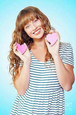 Attractive Young Teenage Girl In Love Poster by Jorgo Photography - Wall Art Gallery