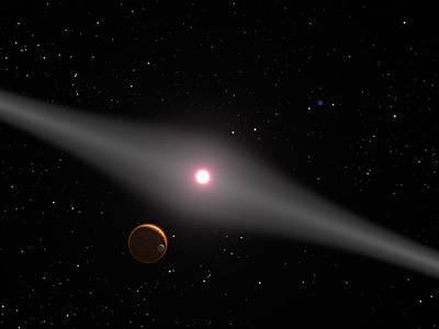 Au Microscopii, Red Dwarf Star Poster by Science Source