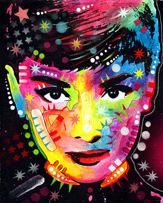 Poster featuring the painting Audrey Hepburn by Dean Russo