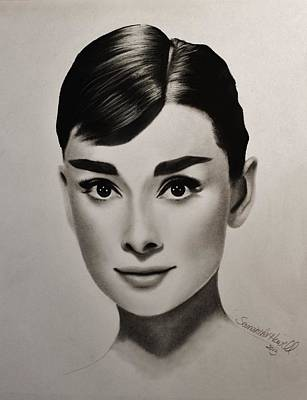 Audrey Hepburn Poster by Samantha Howell