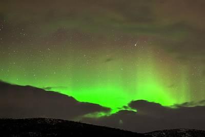 Aurora Borealis And Comet Poster
