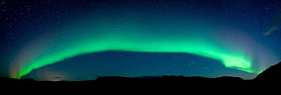 Aurora Borealis Or Northern Lights, Vik Poster