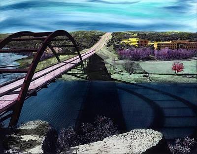 Austin 360 Bridge Poster by Marilyn Hunt