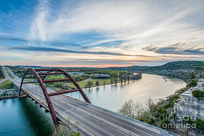 Austin 360 Bridge Sunset Poster by Tod and Cynthia Grubbs