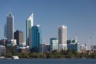 Australia, Perth, City Skyline Poster by Walter Bibikow