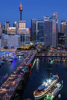 Australia, Sydney, Darling Harbor Poster by Walter Bibikow